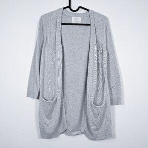 Zara Kids Gray 1/2 Sleeve Cardigan Size 11-12